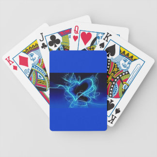 BLACK ELECTRIC ROYAL BLUE AQUA HEART SMOKE SHAPES BICYCLE PLAYING CARDS