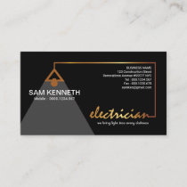 Black Elegance Luminous Gold Electric Wiring Business Card
