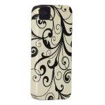 Black elegant flourish swirls iphone 4 casemate iPhone 4 Case-Mate cases