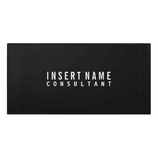 Black Elegant Professional Modern Plain Door Sign