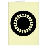 Black Elegant Round Design. Art Deco Style. Greeting Card