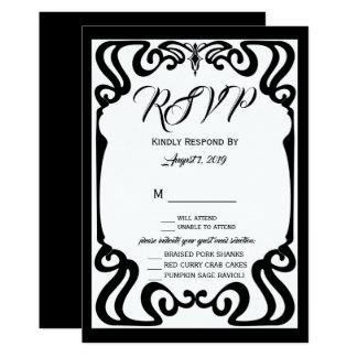 Black Elegant RSVP Card