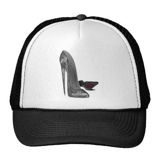 Black Elegant Stiletto Shoes High Heel Art Trucker Hat