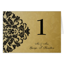 black Elegant table seating card