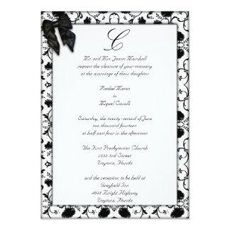 Black Elegant Wedding Invitations