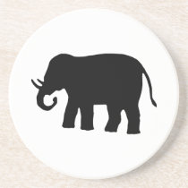 Black Elephant Drink Coaster