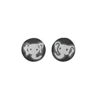 Black Elephant Earrings