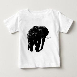 Black Elephant Silhouette Baby T-Shirt