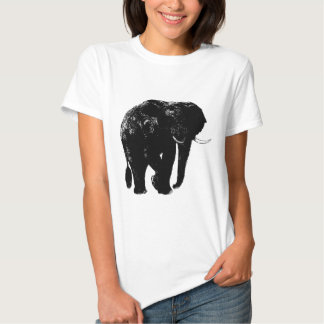 Black Elephant Silhouette Shirt