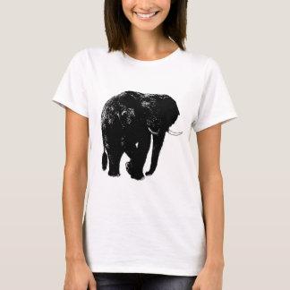 Black Elephant Silhouette T-Shirt