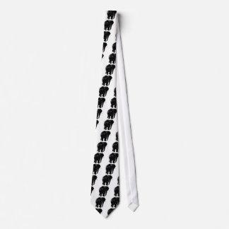 Black Elephant Silhouette Tie