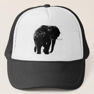 Black Elephant Silhouette Trucker Hat
