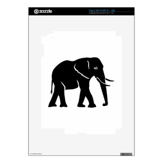 Black elephant decal for iPad 2