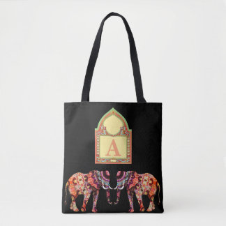 Black Elephant Tote Bag