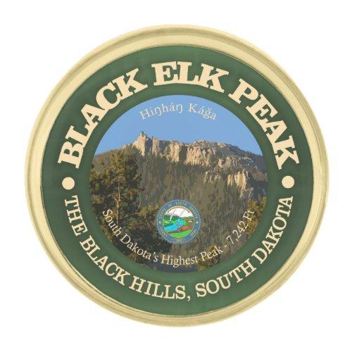 Black Elk Peak Gold Finish Lapel Pin