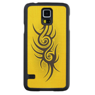 Black Emblem Carved® Maple Galaxy S5 Case