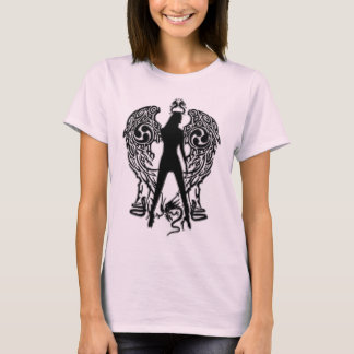 Black Emboss Serpent Angel Shirt
