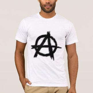 Black Embossed-look Anarchy Logo T-Shirt