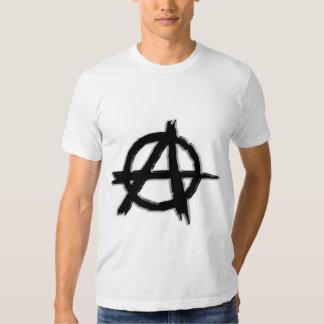 Black Embossed-look Anarchy Logo Tee Shirt