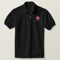 Black Embroidered Polo by Thaiger