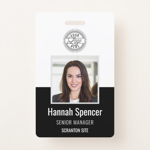 Black  Employee Photo ID Company Security Badge