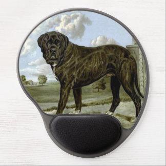 Black English Mastiff Gel Mousepad
