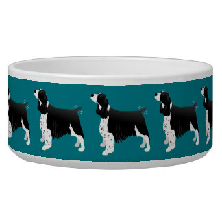 Black English Springer Spaniel Basic Breed Bowl