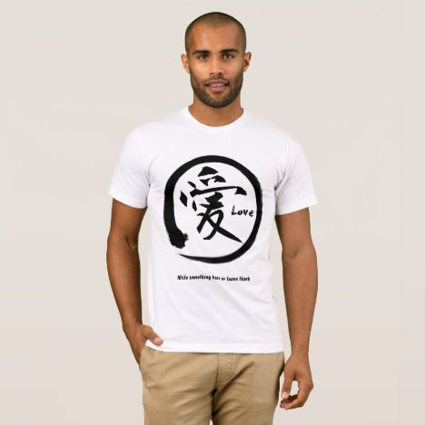 Black enso circle | Japanese kanji symbol for love T-Shirt