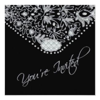 "Black Envelope - Invitation - Your Choice 5.25"" Square Invitation Card"