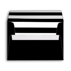 Black Envelope With A Black & White Striped Liner at Zazzle