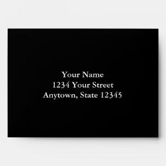 Black Envelope with Custom Address