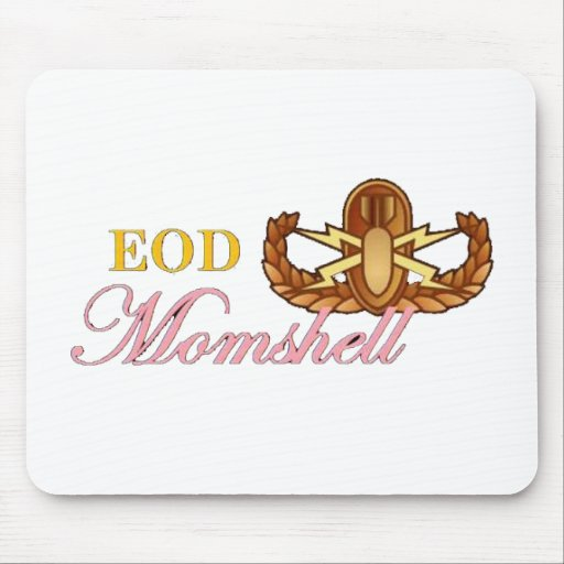black eod momshell mouse pad