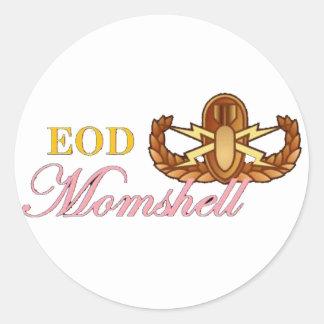 black eod momshell sticker