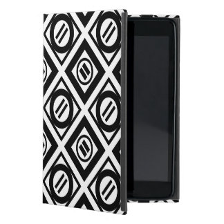 Black Equal Sign Geometric Pattern on White Cover For iPad Mini