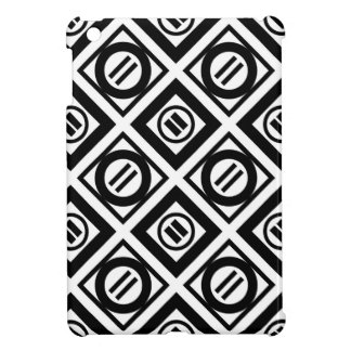 Black Equal Sign Geometric Pattern on White Cover For The iPad Mini
