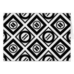 Black Equal Sign Geometric Pattern on White Greeting Card