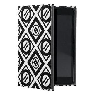 Black Equal Sign Geometric Pattern on White iPad Mini Covers