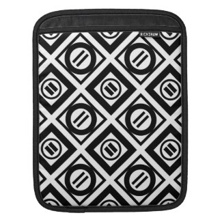 Black Equal Sign Geometric Pattern on White Sleeve For iPads