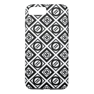 Black Equal Sign Geometric Pattern on White iPhone 7 Plus Case