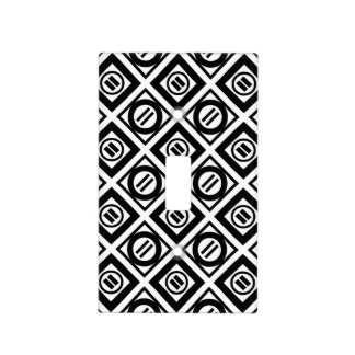 Black Equal Sign Geometric Pattern on White Light Switch Cover