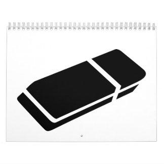 Black eraser calendar