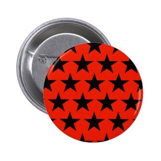 Black estrella modelo pin redondo de 2 pulgadas