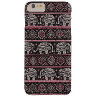 Black Ethnic Elephant Pattern Barely There iPhone 6 Plus Case