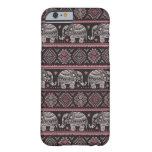 Black Ethnic Elephant Pattern Barely There iPhone 6 Case