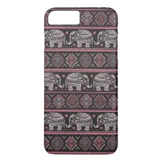 Black Ethnic Elephant Pattern iPhone 7 Plus Case