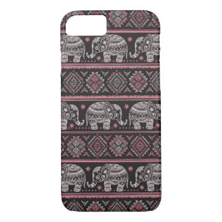 Black Ethnic Elephant Pattern iPhone 8/7 Case