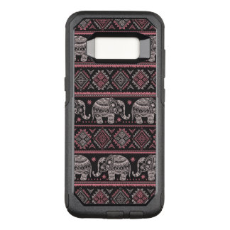 Black Ethnic Elephant Pattern OtterBox Commuter Samsung Galaxy S8 Case