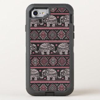 Black Ethnic Elephant Pattern OtterBox Defender iPhone 7 Case