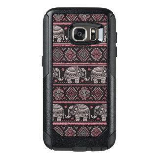 Black Ethnic Elephant Pattern OtterBox Samsung Galaxy S7 Case