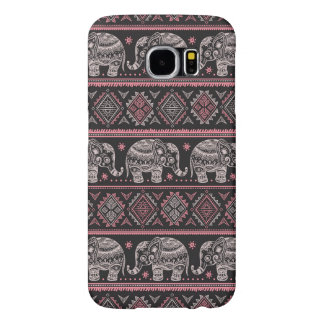 Black Ethnic Elephant Pattern Samsung Galaxy S6 Case
